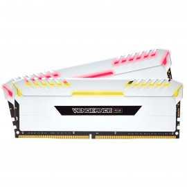 Corsair Vengeance RGB Series 16 Go (2x 8 Go) DDR4 3000 MHz CL16 - Blanc